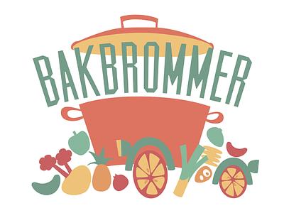 Bakbrommer food typography illustration maurice van der bij