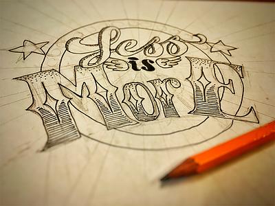 Less Is More typography decorative illustration maurice van der bij