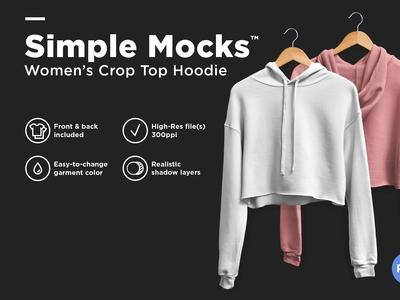 Crop Top Hoodie Mockup