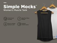 Women's Muscle Tank Mockup