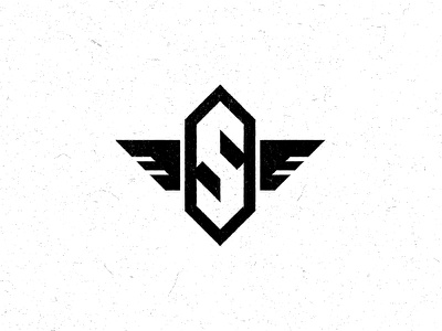 The S Wing Logo logo s wings