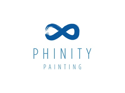 The Painting Logo logo paint infinity brush