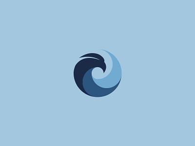 The Egyptian School Logo falcon bird circle logo school
