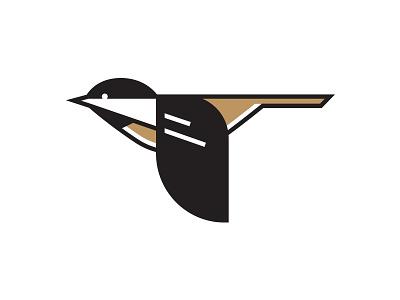 The Black Capped Chickadee charley harper bird black capped chickadee