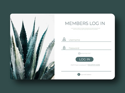 Daily UI  - Day 001 user interface flat log in sign up 001 ui ux