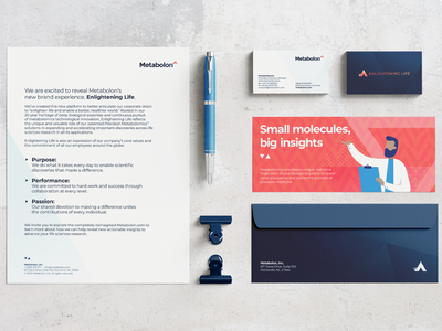 Metabolon – Stationery stationery branding design