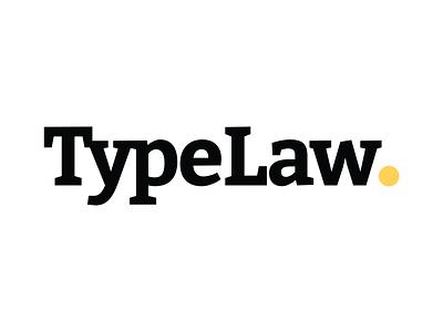 TypeLaw - Logo minimal flat vector typography logo design branding