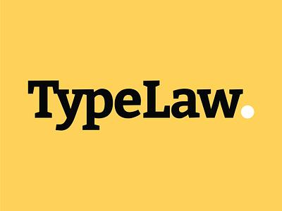 TypeLaw - Logo flat typography minimal logo design branding
