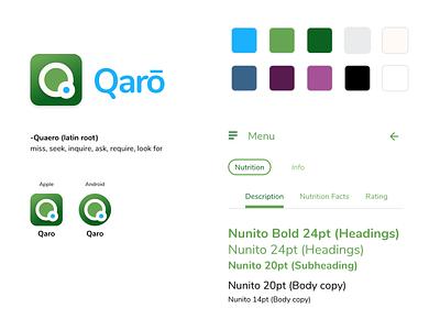 Qarō - Brand Direction app ux logo design branding