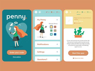 Penny Pack - App flat ui ux app design app design