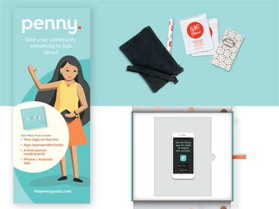 Penny Pack - Product product app illustration design branding