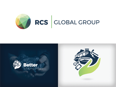RCS Global & BSP - Logo illustration vector branding design logo