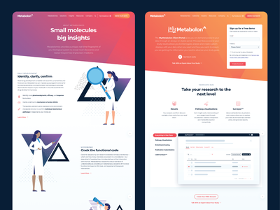 Metabolon - Website illustration website ux ui branding design