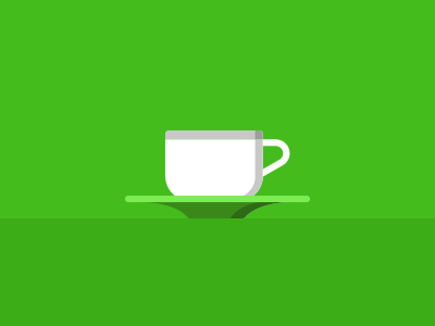 cup and saucer illustration cup vector saucer green