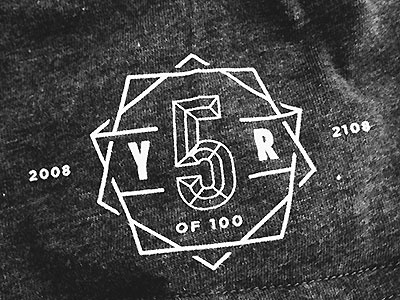 Evernote turns 5 evernote 5 crest t-shirt one color