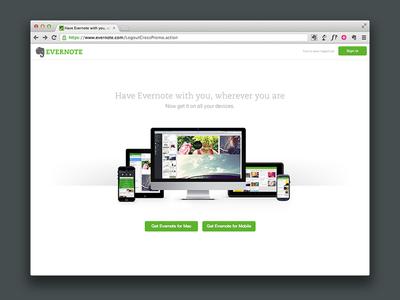 Web Service Logout Page web evernote logout