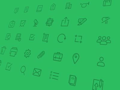 Evernote iOS 7 Icons ios7 evernote