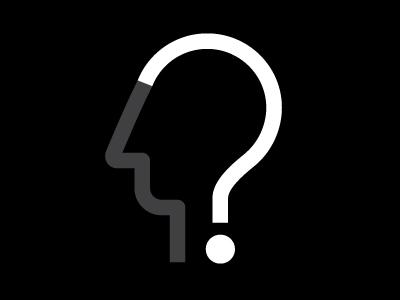 Curiosity illustration portrait question mark