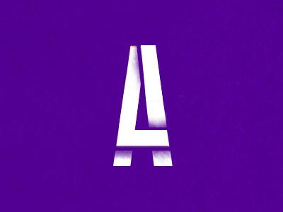 Monogram Club monogram purple a l