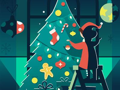 Happy Holidays karyl gil art digital holidays christmas illustration