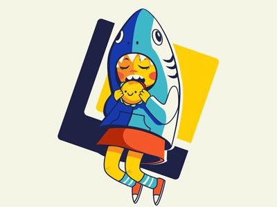 Overbite digital art illustration character design kid karyl gil