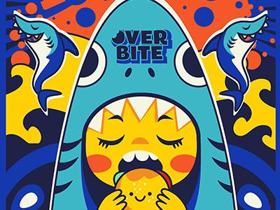 Overbite: Jawbreaker 1 overbite karyl gil redbubble kid burger shark digitalart illustration cute