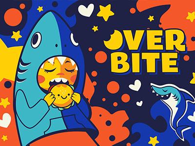 Overbite: Jawbreaker 2 kawaii overbite karyl gil redbubble kid burger shark digitalart cute illustration