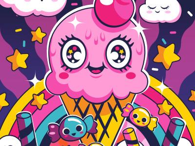 Sugar High Sprinkles karyl gil illustration cartoons retro kawaii cute sprinkles icecream candies sugar sweets