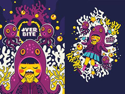 Overbite: Octofizz cartoon vector illustration girl overbite kawaii cute octopus
