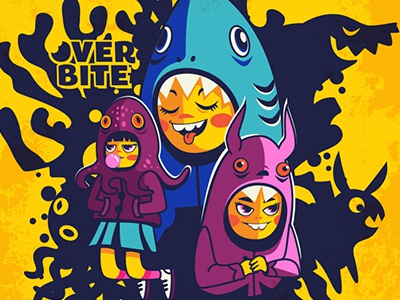 Overbite Munchkins vector cartoons illustration kawaii cute overbite karyl gil  digitalart