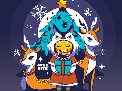 Overbite Peppermint christmas vector overbite cartoon character charactedesign kawaii karyl gil cute illustration