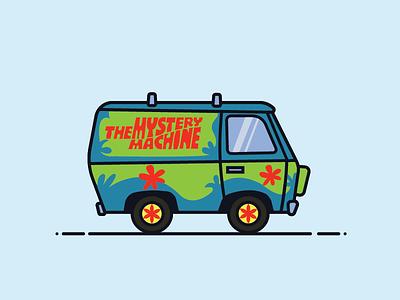 The Mystery Machine illustrator van car illustration cartoon mystery machine scooby-doo