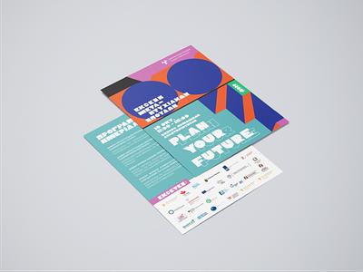 — Plan you future / Flyer (Front + Back) future deisgner sponsors postgraduate mockup poster design custom typography colours fair fun illustrator illustration shapes colorblock university flyer typography poster typography custom font