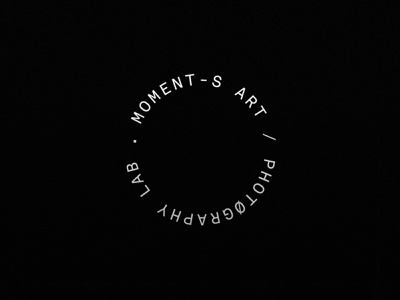 Moments Art / Photography Lab camera lens logo designer logo design camera lens minimal typography type logotype photographer logo mark design brand identity branding logo