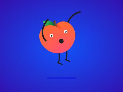 Surprised apricot