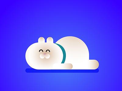 — romeo fat british shorthair relax sleeping kitten gradient illustration cat romeo