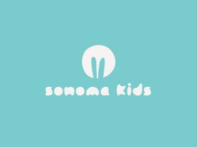 — Sonoma Kids Logo & Brand Identity logo design kids logo brand identity mark type branding cute bunny ears kids icon typography logo
