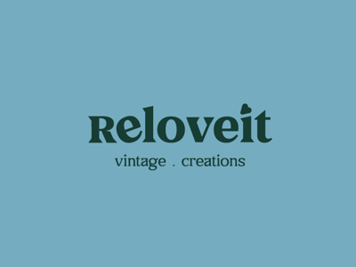— ReLoveit Logo & Brand Identity visual identity identity brand illustration branding design creations vintage furniture typography type mark logotype logo design home logo brand identity branding relove