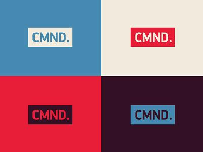 CMND. din geometric typography logo