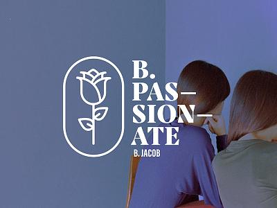 B.Passionate passionate passion rose icon geometric vector illustration typography