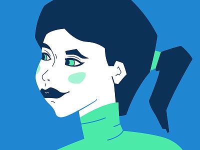 Illustration exploration green blue design sketches vector illustration