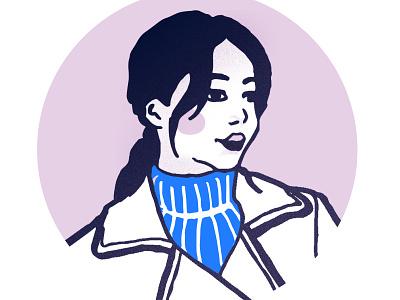 Sweater weather marker ink design vector illustration