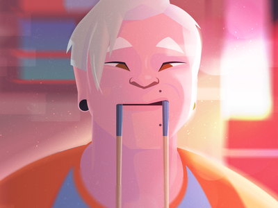 Utensílio de Cozinha color light character design concept vector illustration