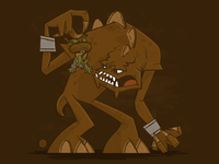 Rancor does like green eggs and ham!