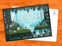 Dagobah Postcard