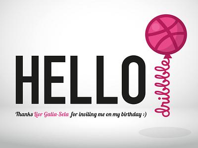 Hello dribble hello ballon birthday shot first debut