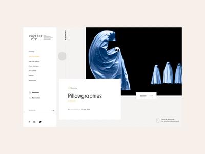 Chorege CDCN branding ux interaction design animation ui after effect web interface design website