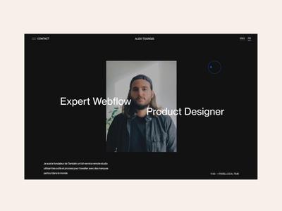 Freelance Portfolio webflow ux interaction design animation after effect web ui interface design website