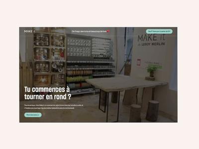 Make-it Leroy Merlin webflow typogaphy ux interaction design animation ui web interface design website
