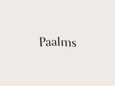 Paalms typogaphy branding brand logo idenity